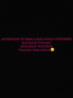 Attention!! Preorder Date Reduce