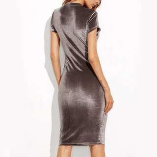 PO: Velvet Midi Dress