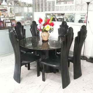 Marble table with 7 chairs