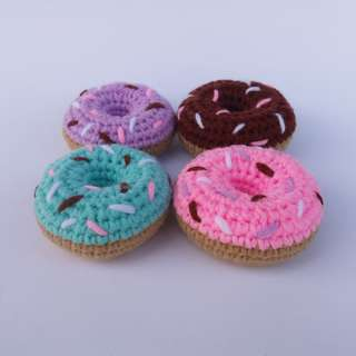 PLUSHIE: Mini Sprinkled Doughnut (Crochet Amigurumi)
