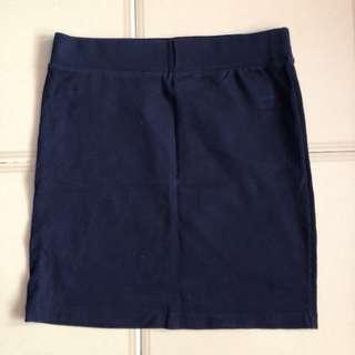 F21 Navy Bandage Skirt