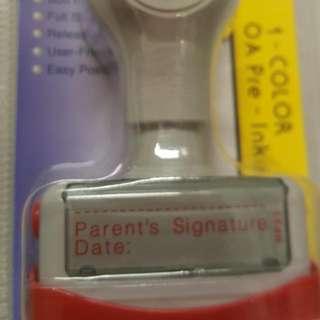 Parent's Signature Stamp