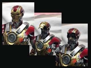 Hot toys iron man mark17 改頭雕 專業上色 / 代工 / 重噴 / 維修 / 加燈 /