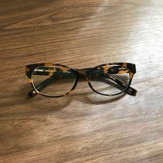Cat eye brown eyeglasses