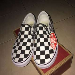 Vans slip on mix checkerboard bnib