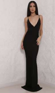 Celine Backless Maxi Dress - Black