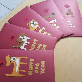 Handmade Red Packets (Dog Year Edition)