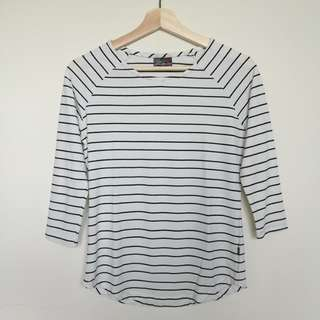 BNY 3/4 sleeve striped top