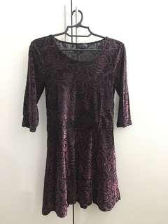 Pre-loved maroon Topshop dress