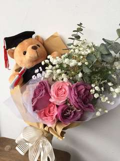 Roses Bouquet with bear