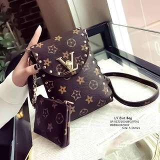 LV 2in1 bag size : 6 inches