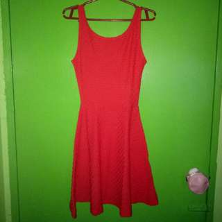 H&M red sleeveless dress