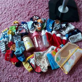 Free - Baby socks bottles Thermose and other stuff