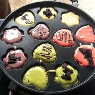 Pan Snack Maker Wajan Cetakan Kue Cubit Lubang Motif Bagus