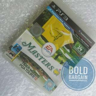 Authentic Masters Golf Tiger Woods PGA Tour 12 PS3 Game Blu-Ray Disk for PlayStation
