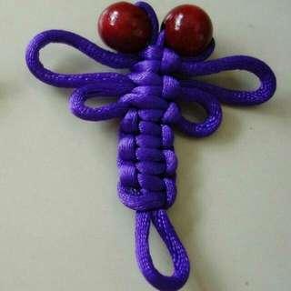 FREE NM📬Brand New Handmade Purple Dragonfly Oriental Knot