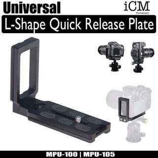 Universal DSLR L Shape Bracket Quick Release Plate For Tripod Head MPU 100