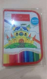Pensil warna 24w faber castle dalam tas