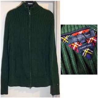 US Tommy Hilfiger Green Blackish Green knitted pullover causal zip sweater Jacket Sport 美國 名牌  Tommy Hilfiger 綠色 墨綠色 針織 拉鏈 開胸 毛衣 冷衫 休閒 衛衣 新年 拜年 過年 Chinese lunar new year