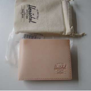 AUTHENTIC Herschel Supply Co. Men's Leather wallet Miles Premium Leather natural