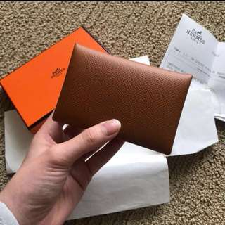 Hermes card holder卡片套 啡色