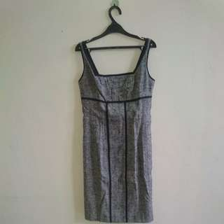 Gray Tweed Dress