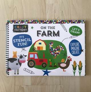 Craft Factory On The Farm Stencil Activity