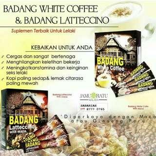 Badang White Coffee and Badang White Latteccino - Jamu Ratu Malaya