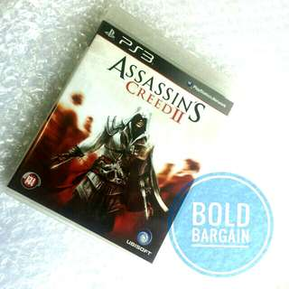 Authentic ASSASSIN'S CREED II Blu-Ray Game Disk for PS3 PlayStation Game Console