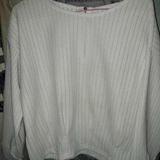 Baju crop putih