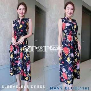 Floral Sleeveless  Button-up Dress