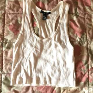 FOREVER 21/XXI Crop Top White