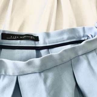 ZARA Blue Flared Skirt