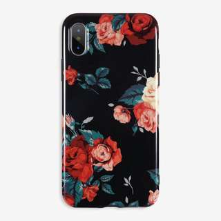 Floral glossy imd case