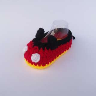 BABY BOOTIES: Mickey Mouse Baby Shoes (Crochet)
