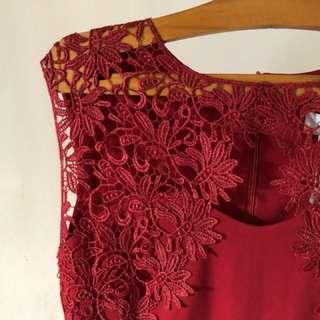 紅色敬酒魚尾裙
