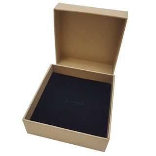 Quality Kraft Brown Jewelry Box with sponge padding size 10x10x3cm now available in 3 boxes pack until stock last