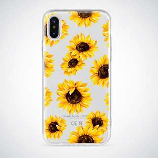 Sunflower clear soft case