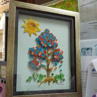 Quilling in frame