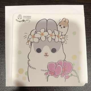 ㄇㄚˊ幾兔 戴花環款 杯墊 麻吉兔 麻幾兔 台灣 餐廳 machiko yukiji