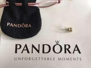 PANDORA 六角形 charm 100% real 真品