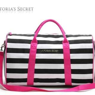 Victoria Secret Stripe Gym Bag