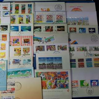 38X Singapore First Day Cover from 80's and 90's ( Lot of 38 different FDC )