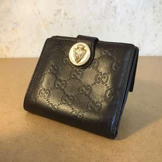 Gucci Brown Leather Wallet 皮銀包