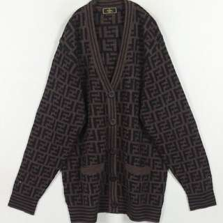 Vintage Fendi monogram cardigan sweater 1999