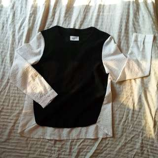 Black and white long sleeve