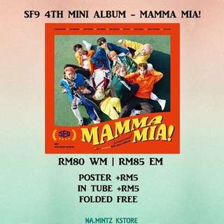 PRE-ORDER SF9 4TH MINI ALBUM - MAMMA MIA!