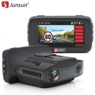 Junsun L2 Ambarella A7 Car DVR Camear Radar Detector Gps 3 in 1 LDWS HD 1080P Video Recorder Registrar Dashcam Russian Language