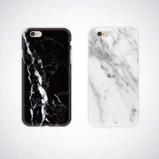 Glossy marble imd case