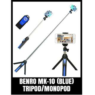 BENRO MK-10 MONOPOD WITH STAND AND REMOTE-BLUE
